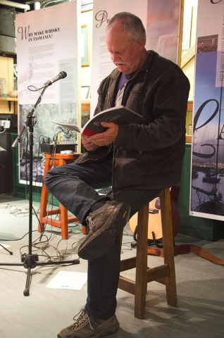 Pete Hay, Backseat Driver, at the Lark Distillery, Hobart.